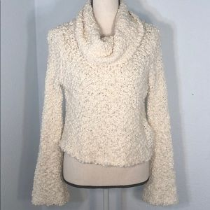 Chelsea & Violet Cowl Neck Sweater w Silver Sequin